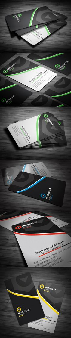 Sleek Corporate Business Card by Calwin (via Creattica)