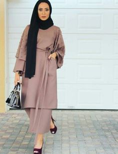 Islamic Fashion, Muslim Fashion, Modest Fashion, Fashion Dresses, Hijab Style, Hijab Chic, Abaya Fashion, Fashion Line, Hijab Gown