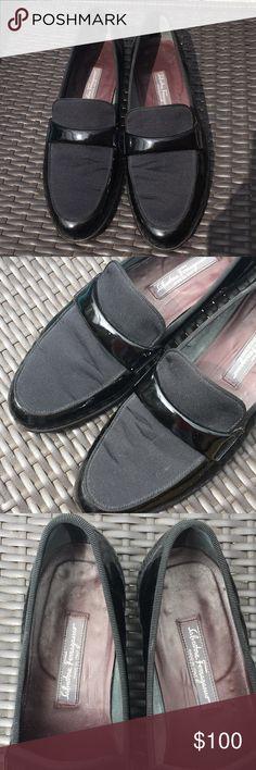 Salvatore Ferragamo Size 10 Tuxedo Slip On Shoes Salvatore Ferragamo Made in Italy Slip On Shoes 👞 Size 10 Salvatore Ferragamo Shoes Loafers & Slip-Ons