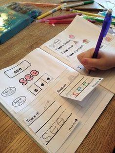 Sight-Words-Interactive-Notebook-25-and-50-Word-Lists-Fountas-Pinnell-1396410 Teaching Resources - TeachersPayTeachers.com