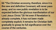 CCC 66 - There will be no further Revelation