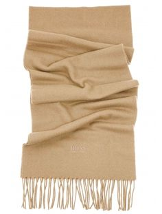 Hugo Boss Black Cashmere Wool Blend Scarf Albarello in Brown