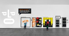 The MoMA Art Lab. Interactive Exhibition, Interactive Installation, Interactive Learning, Moma Art, Fine Arts School, Wall Text, Space Museum, Museum Displays, Wayfinding Signage