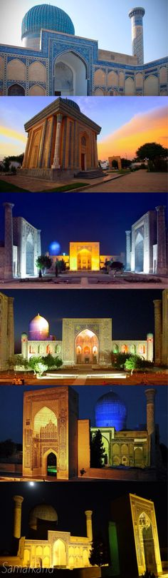 Founded in the 7th century B.C. as ancient Afrasiab, Samarkand had its most significant development in the Timurid period from the 14th to the 15th centuries. The major monuments include the Registan Mosque and madrasas, Bibi-Khanum Mosque, the Shakhi-Zinda compound and the Gur-Emir ensemble, as well as Ulugh-Beg's Observatory.