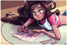 Stevonnie<<LOOK AT WHAT SHE IS DRAWING SHE IS DRAWING FREAKING BUBBLEINE!!!