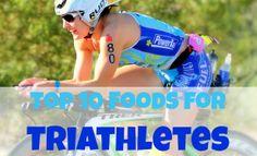 Pro triathlete Kim Schwabenbauer shares her top 10 must-have foods! #triathlon