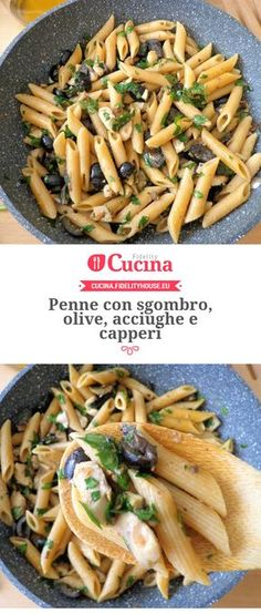 Penne con sgombro, olive, acciughe e capperi della nostra utente Magdalena. Unisciti alla nostra Community ed invia le tue ricette!