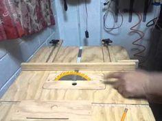 Sierra de mesa casera - YouTube