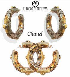 acquistali on line, clicca su http://www.iltoccodiminerva.it/2013/10/orecchini-chanel-oro-borchie-paiettes/