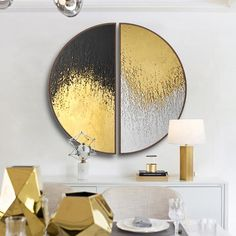 Buy Round Black And Gold Wall Art With Wood Frame – Staunton And Henry Buy Round Black and Gold With Wood Frame – Staunton and Henry gold wall art - Wall Art Leaf Art, Gold Wall Art, Abstract Canvas Painting, Round Wall Art, Oil Painting Abstract, Art Painting Acrylic, Canvas Painting, Round Art
