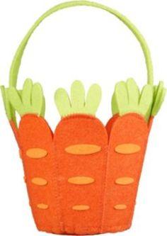 Felt Carrot Easter Basket $8.95