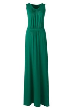 Women's+Sleeveless+Shirred+Maxi+Dress+from+Lands'+End