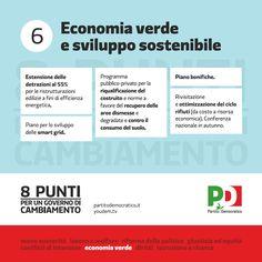 8 punti per il cambiamento   Economia verde e sviluppo sostenibile   Partitodemocratico.it
