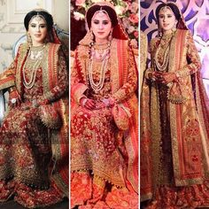 Maham looking absolutely breathtaking in a traditional #FarahTalibAziz bridal in opulent shades of scarlet reds and exuberant golds on her wedding day in Lahore♥️ #farahtalibazizbrides #RealBrides #TraditionalBrides #OldWorldCharm ✨