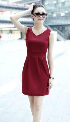 New Casual Fashion Korean Women Summer Fashion Dress V Neck Slim Wild   eBay