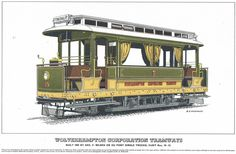 Wolverhampton 10 (1902), de Wolverhampton Corporation Tramways (2) Wolverhampton, Gazebo, Sketch, Outdoor Structures, Sketch Drawing, Kiosk, Deck Gazebo, Drawings, Sketching