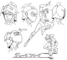 Grendizer Character sketch 001 by Kazuo Komatsubara