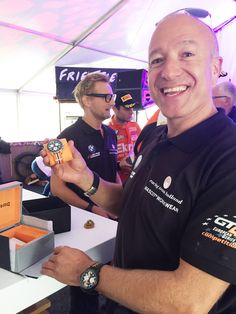 GT4 racing drivers Tim Coronel and Bernhard van Oranje: proud owners of the LEMARQ Monza Chrono. www.lemarqwatches.com