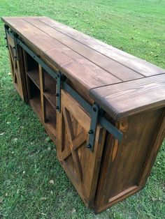 TV Console/TV Stand/Entertainment by TourtillottCreations on Etsy