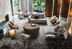 Minotti, design per la casa - i prodotti del catalogo dialogano armoniosamente tra loro