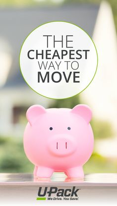 Options and helpful info that details the cheapest way to move (how to keep your move costs low, other ways to save, and more! Moving Costs, Moving Tips, Cheap Movers, Ways To Save, Piggy Bank, Money Box, Moving Hacks, Money Bank, Savings Jar