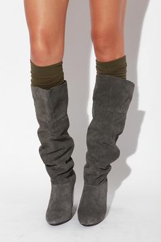 slouchy boots and socks!