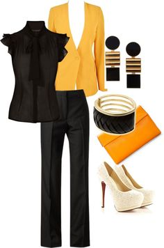 """""""Professional Work Attire"""" by keishabarden ❤ liked on Polyvore"""