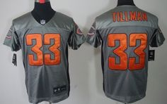 ... nfl alternate autographed jersey  nike chicago bears 33 charles tillman  gray shadow elite jersey bcc600900