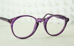 80s Glasses 1980's Round Eyeglasses Purple by THAYEReyewear, $44.00