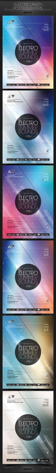 Electro Party Poster/Flyer - Clubs & Parties Events
