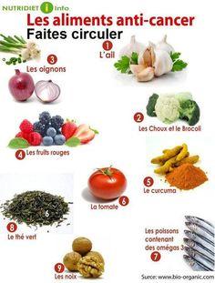 Les aliments anti-cancer ! Plus