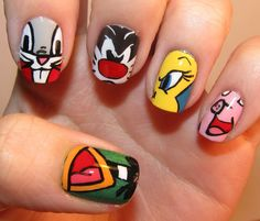 cartoon nails | Todo Unhas: Uñas de Dibujos Animados - Cartoon Nail Art Designs!