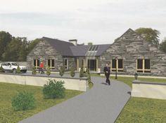 bw008 Barn Style House Plans, House Floor Plans, Single Storey House Plans, L Shaped House, Self Build Houses, Modern Bungalow House, Irish Cottage, Fancy Houses, Dream House Exterior