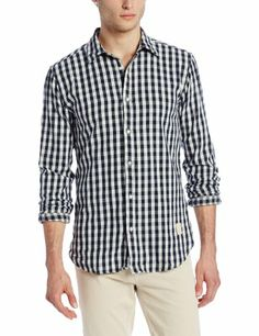Scotch and Soda Men's Gingham Shirt with Bowtie