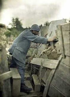 French Army World War I by the Lumière brothers, Auguste and Louis
