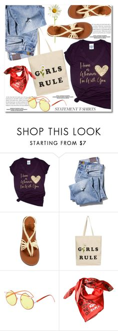 """Slogan T-Shirts"" by paculi ❤ liked on Polyvore featuring Topshop, Fendi, sandals, slogantshirts, summer2017 and plakasandals"