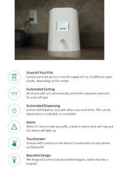 Lumma: Smart Pill Dispenser by LITE — Kickstarter