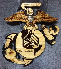 USMC plaque Questions on design or price contact Lunawood1775@gmail.com Once A Marine, Navy Marine, Us Marine Corps, Military Humor, Military Life, Military Art, Usmc Ring, Cool Tactical Gear, Military Shadow Box