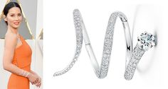 """Oscars presenter and X-Men: Apocalypse actress Olivia Munn accessorized with Forevermark by Jade Trau's """"Exceptional"""" 18-karat white gold and diamond cuff."""
