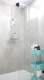 Nuapurissa: Mikrosementti kylpyhuoneessa // ennen ja jälkeen