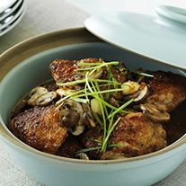 Slightly sweet and superb in its simplicity, these teriyaki braised chicken thighs make a spectacular main course - One of dozens of delicious Soy Vay recipes http://www.soyvay.com