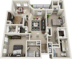Two Bedroom Floorplans | Avana Apartments