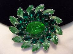 Vintage 1950s Emerald and Peridot Green Glass by AnnesGlitterBug