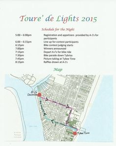 Tour De Lights Bike Parade Light up your bikes, tinsel up the handrails and cruise the island for a night of holiday fun! The Tour de Lights Bike Parade will begin and end at A-J's Dockside this Saturday December 19th. More information is available by calling 912-786-9533.