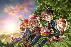 Ash and Pikachu with their Kalos friends #Amourshipping ^.^ ♡ Credits to whoever made this fan art