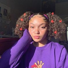 sky <33 (@sxxylar) • Instagram photos and videos Clip Hairstyles, Cute Curly Hairstyles, Girls Natural Hairstyles, Baddie Hairstyles, Black Girls Hairstyles, Braided Hairstyles, Curly Hair Styles, Natural Hair Styles, Hairdos