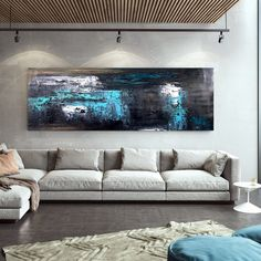 Extra Large Wall Art Abstract Painting Bedroom Decor image 0 Abstract Canvas Art, Canvas Paintings, Your Paintings, Oil Painting On Canvas, Original Paintings, Large Wall Art, Large Canvas, Oversized Wall Art, Colorful Paintings
