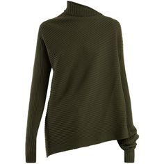 e4df7573ca This khaki-green sweater displays Marques Almeida s proclivity for  asymmetric silhouettes and clean
