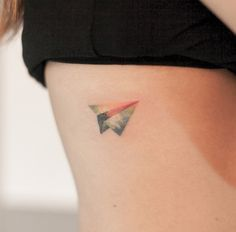 Paper Airplane Tattoo by Graffittoo