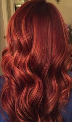 Copper Balayage, Hair Color Balayage, Ombre Hair, Red Ombre, Blonde Hair, Purple Hair, Ruby Red Hair, Pretty Red Hair, Auburn Balayage